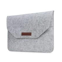 15 inch Macbook en Laptop Soft Sleeve Case Grijs
