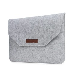 Geeek 15 inch MacBook Laptop Soft Sleeve Case Grey