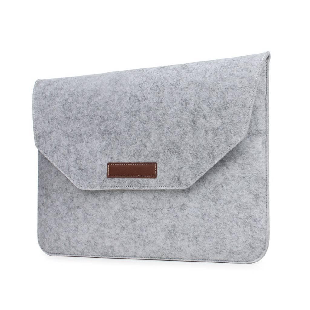 13 inch Macbook en Laptop Soft Sleeve Case Grijs
