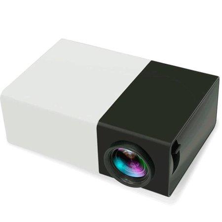 Geeek Beweglicher LED-Projektor Beamer Schwarz Weiß FullHD