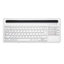 Multi-functional Bluetooth Wireless Keyboard White Windows iOS Android