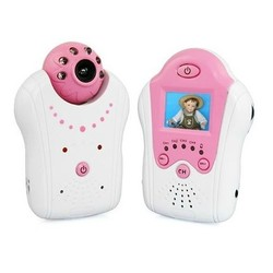 Geeek Compact Baby Monitor Baby Monitor with Camera Pink