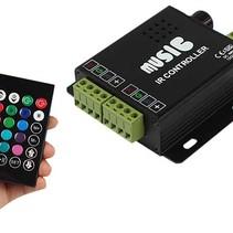 Audio IN Muziek Led IR Controller Afstandsbediening RGB Duo