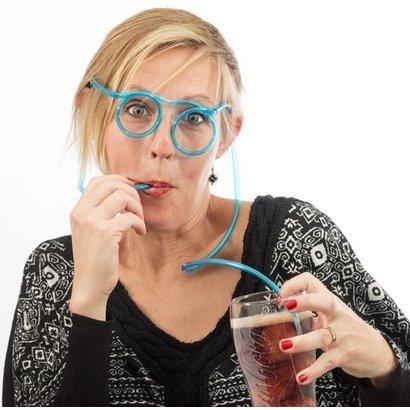 Geeek Trinkgläser Stroh Strohhalm Brille