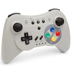 Geeek Wireless Controller Wii U Pro SNES Look