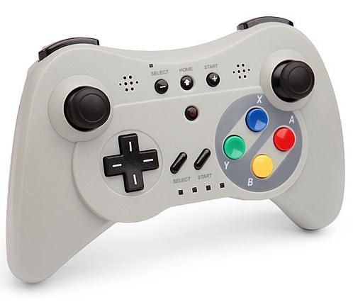 Wireless Controller voor Wii U Pro - SNES Look