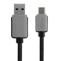 USB-C Kabel 3 meter datakabel USB / USB-C Heavy Duty Nylon