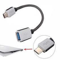 USB-C Kabel 0,20 meter Adapterkabel USB-C Male / USB-A Female Heavy Duty Nylon