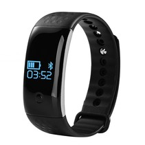 Smart Fitness Band Pedometer Heart Monitor Blood Oxygen monitor Silicone