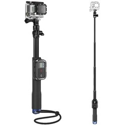 Geeek Extra Long Selfie Stick with Remote Holder for GoPro