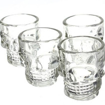 Crystal Head Shot Glass Skeleton Glass 4 Pieces