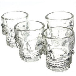Geeek Crystal Head Shot Glass Skeleton Glass 4 Pieces