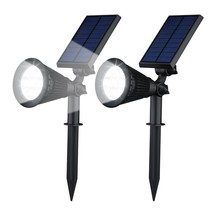 Solar Garden Lights LED Spotlight 2 pieces
