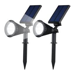 Geeek Solar-Gartenleuchten LED 2 Stücke Spotlight