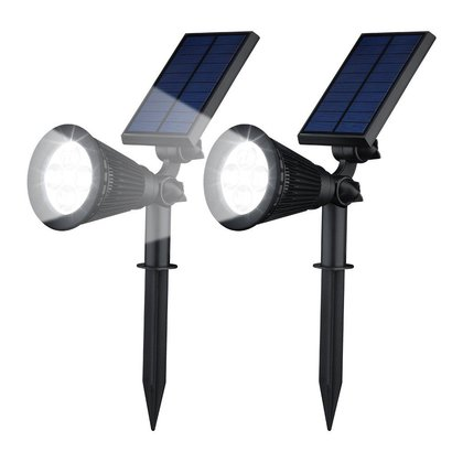 solar gartenleuchten led 2 st cke spotlight jetzt g. Black Bedroom Furniture Sets. Home Design Ideas