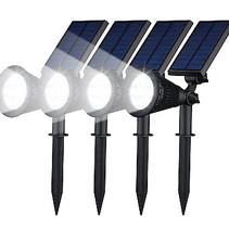 Scheinwerfer Solar-LED-Gartenleuchte 4 Stück