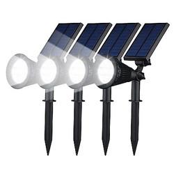 Geeek Spotlight Solar LED Garden Lights 4 Pieces