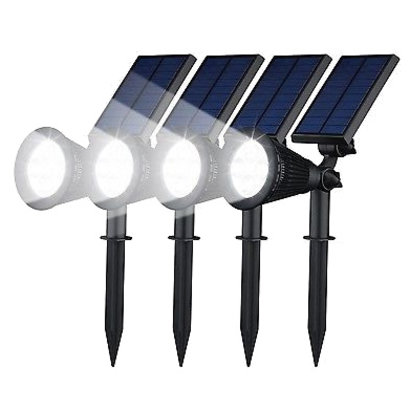 Geeek Spotlight Solar LED Garden Lights 4 Pieces Geeektechcom