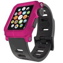 EPIK Polycarbonat-Gehäuse mit Silikon-Band Apple Watch 42mm Rosa