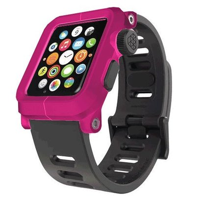 LunaTik EPIK Polycarbonat-Gehäuse mit Silikon-Band Apple Watch 42mm Rosa