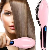 Brush Style Perfect Hair Straightener Brush HQT-906