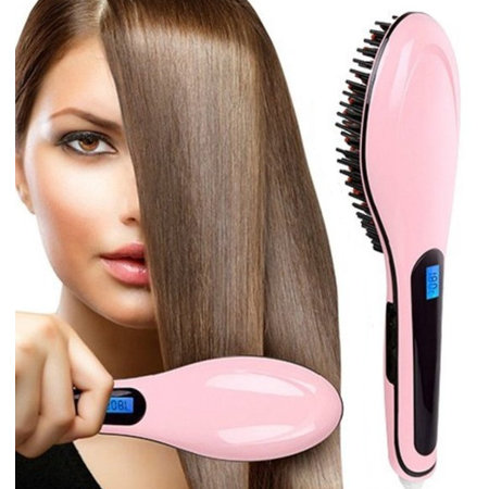Geeek Stijlborstel Perfect Hair Straightener Brush HQT-906