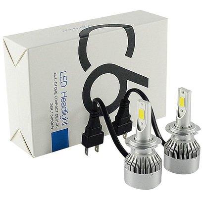 Geeek LED Head Lamp Headlight Xenon H7 6000K Set