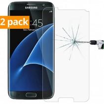 Sterke Tempered Gehard Glazen Glass Screenprotector Samsung Galaxy S7 (2 pack)