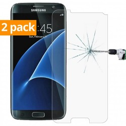 Geeek Sterke Tempered Gehard Glazen Glass Screenprotector Samsung Galaxy S7 (2 pack)