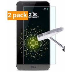 Geeek Sterke Tempered Gehard Glazen Glass Screenprotector LG G5 (2 pack)