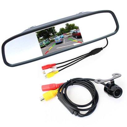 Geeek Rückfahrkamera-Set Wireless-Auto und Lastwagen in Rearview-Monitor mit 12V / 24V