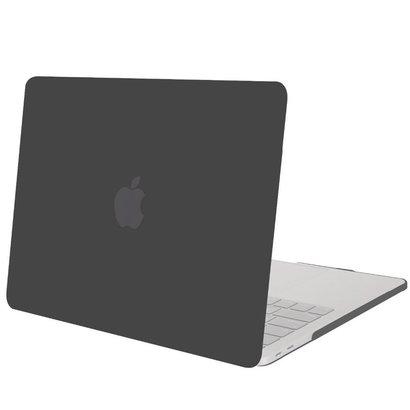 Geeek Hardgummiabdeckungs-Fall Matte MacBook Pro 13-Zoll (2016) Schwarz