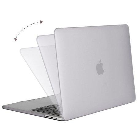Geeek Ultradünne Matt Gummierte Hartschale Schutzhülle für Apple MacBook Pro 13-Zoll (2016) Transparent