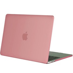 Geeek Hardgummiabdeckungs-Fall Matte MacBook Pro 13-Zoll (2016) Rosa