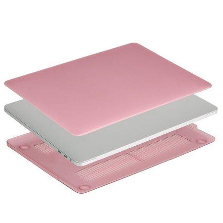 Geeek Ultradünne Matt Gummierte Hartschale Schutzhülle für Apple MacBook Pro 13-Zoll (2016) Rosa