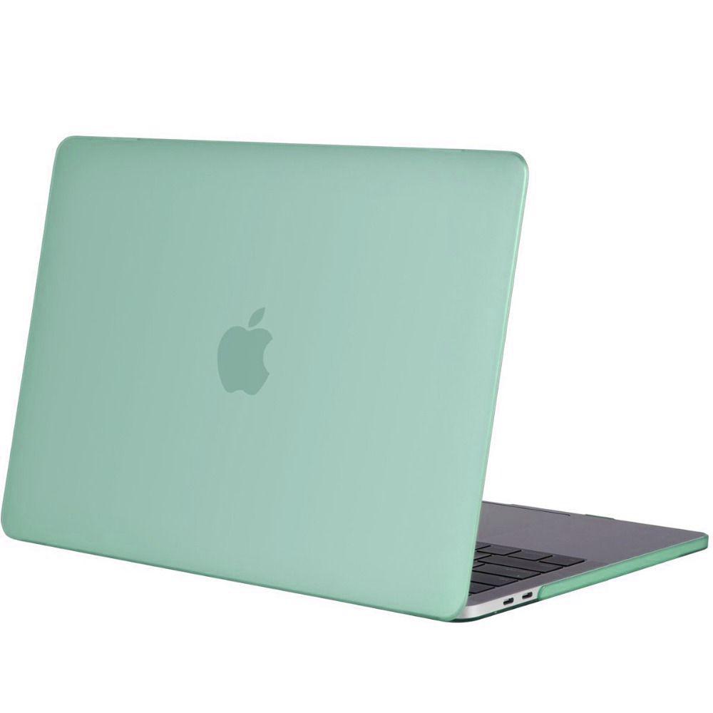 Hardshell Rubber Cover Case Mat MacBook Pro 13 inch (2016) Mintgroen