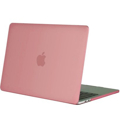 Geeek Hardgummiabdeckungs-Fall Matte MacBook Pro 15-Zoll (2016) Rosa