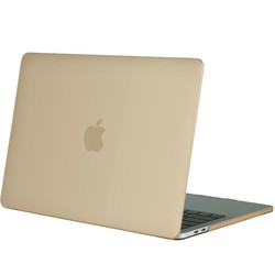 Geeek Hardgummiabdeckungs-Fall Matte MacBook Pro 15-Zoll (2016) Gold