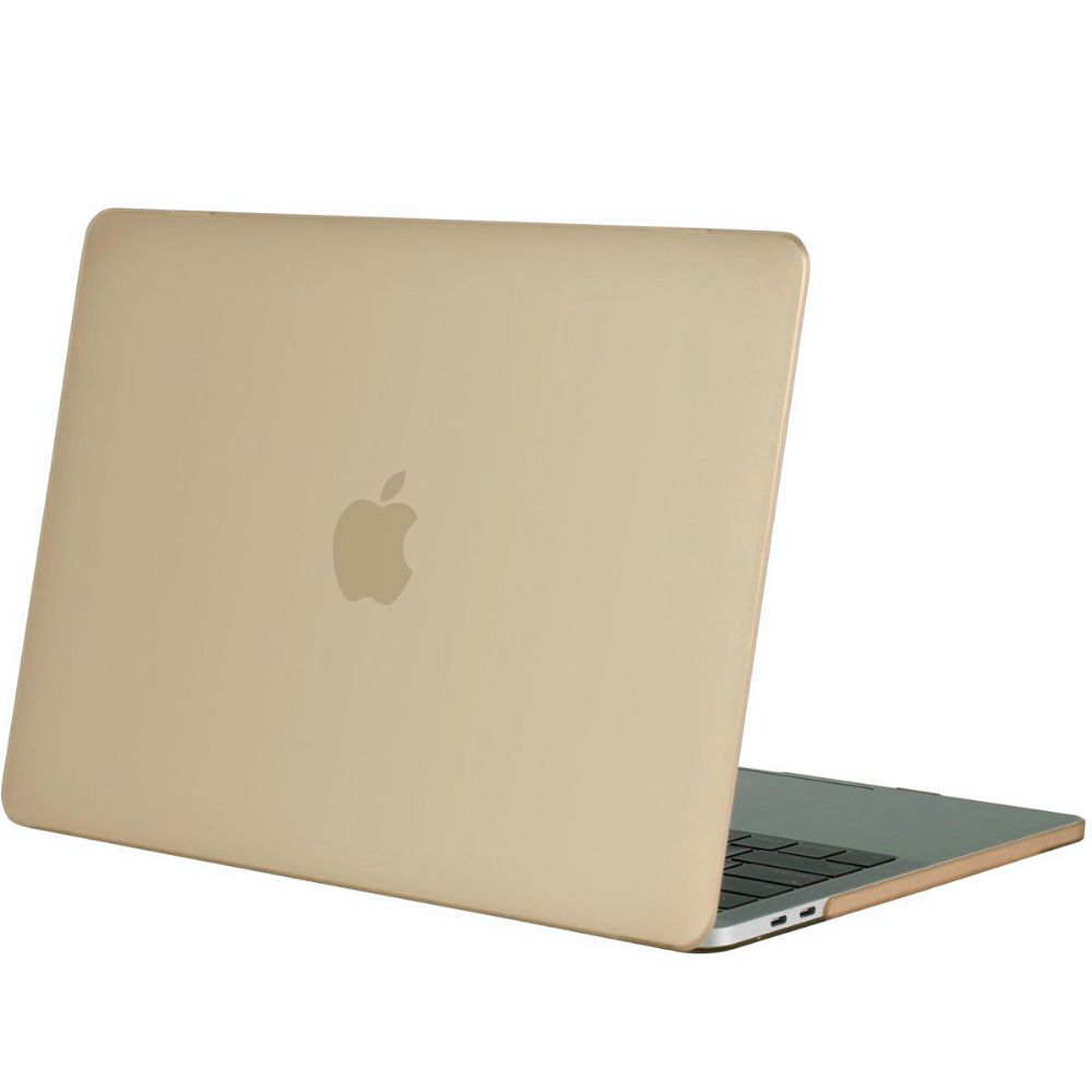 Hardshell Rubber Cover Case Mat MacBook Pro 15 inch (2016) Goud