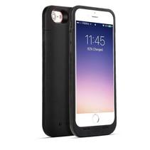Ultradünnes 7000mAh Batterie-Kasten-Hülle für iPhone 7 / 8 Plus Schwarz