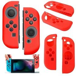 Geeek Silikon-Anti-Rutsch-Abdeckung für Nintendo Switch Controller Red