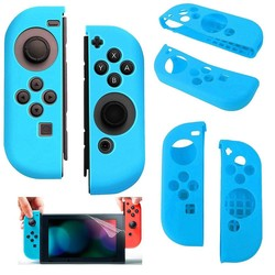 Geeek Silicone Anti Slip cover voor Nintendo Switch Controller Blauw
