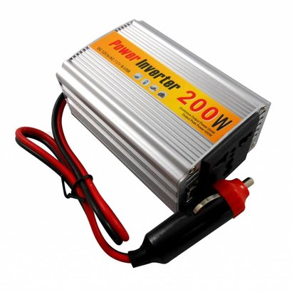 Geeek Power Inverter 12v DC zum Wechselstrom-220V 50Hz Auto Power-Inverter-200W