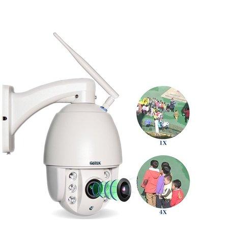 Geeek Beveiligingscamera WiFi IP PTZ HD 960p Outdoor Indoor