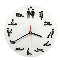 Geeek Wanduhr mit Sexstandjes Sex Position Clock