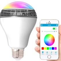 LED Lamp met Bluetooth Speaker RGBW Playbulb