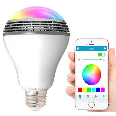 Geeek LED-Lampe mit Bluetooth Lautsprecher RGBW Playbulb