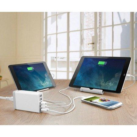 Geeek Powerport 5 Poorts USB Station Lader 40 Watt Zwart Quick Charge 3.0