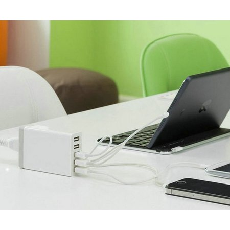 Geeek Power Port 5 Port USB-Ladestation 40 Watt Schwarz