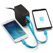 Power Port 5 Port USB-Ladestation - 40 Watt - Schwarz